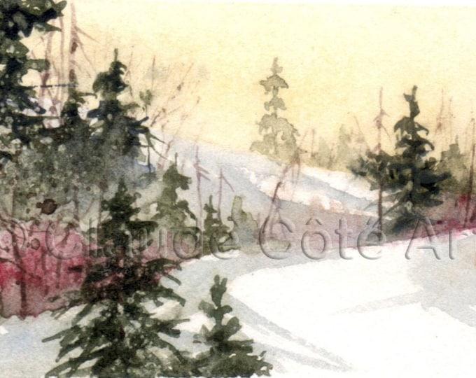 No 23, Greeting card, watercolor, watercolor