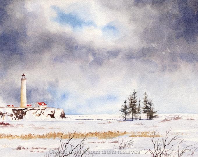 No 74, Greeting Card, watercolor print