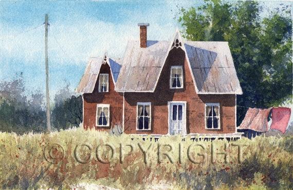 No 51, Greeting Card, watercolor, watercolor
