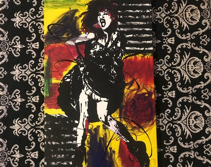 Featured listing image: Cyndi Lauper ORIGINAL Painting