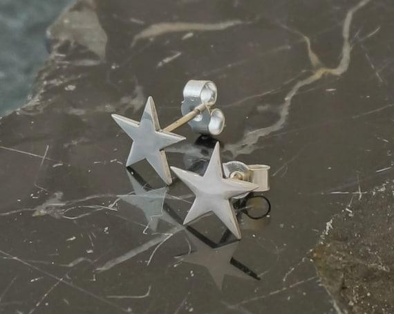925 Real Sterling Silver Triple Shooting Star Stud Earrings Stud Christmas Sky