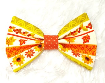 Fall Dog Bow Tie, Autumn Leaves, Thanksgiving