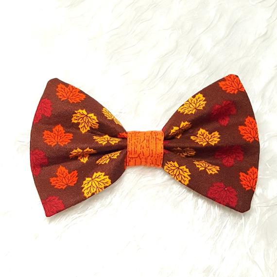 Floral Dog Bow Tie Autumn Dog Bow Tie Fall Bow Tie Sailor Bow Fall Floral Bow Tie Dog Bow Tie