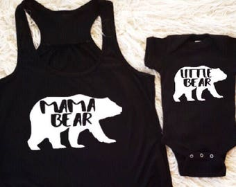 mama bear baby bear little bear matching mommy and me shirts mother daughter shirts mother son shirt matching family tank tops nYuqf24b