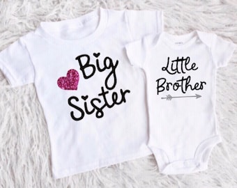 35deee4a2395 big sister little brother shirts matching big sis lil bro new baby boy  shirt pregnancy announcement birth announcement new sibling new baby