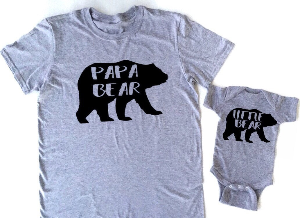 ecb93c20 Papa bear daddy bear little bear baby bear bear family shirts | Etsy