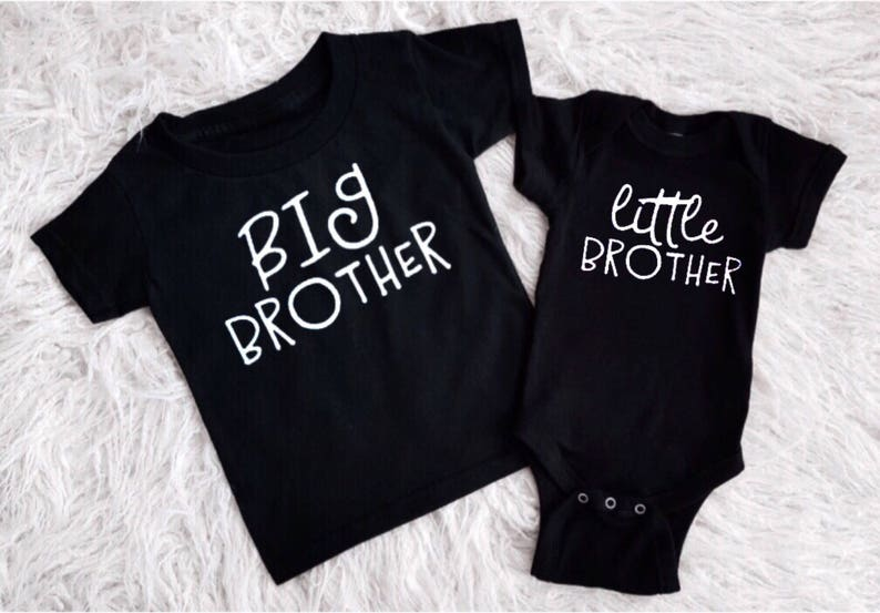 0c43a7f670e62 big bro shirt lil bro shirt monochrome clothing black t-shirt brother  t-shirt black little brother black t-shirt matching siblings baby boy