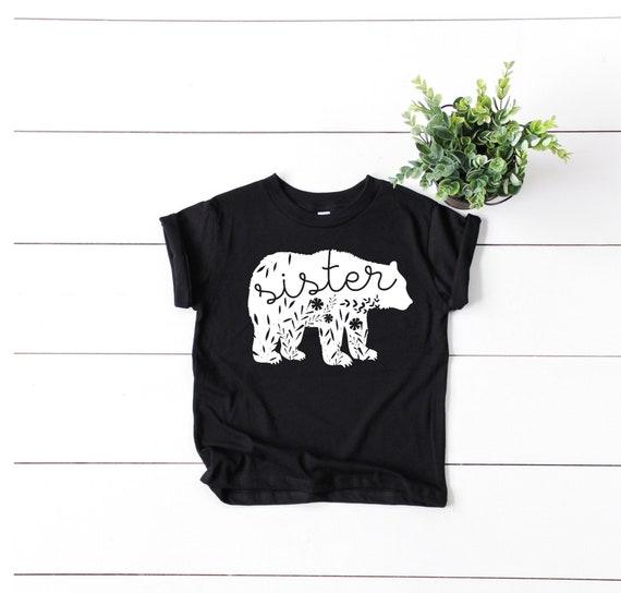 2cb99f662 sister bear shirt monochrome bear shirts modern bear trendy   Etsy