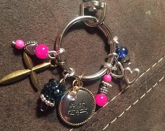 Sister purse charm