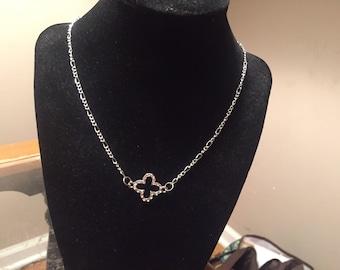 "Rhinestone cross 18"" necklace"