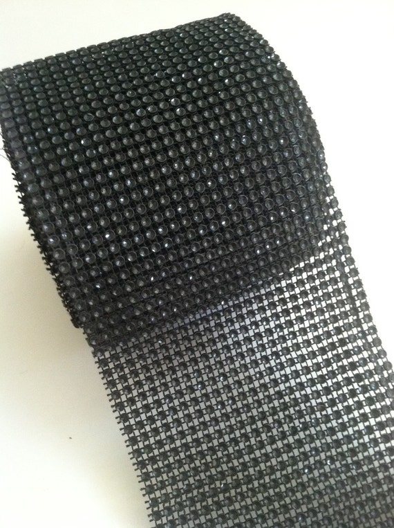 Black Diamond Rhinestone Mesh Trimming Ribbon For Cake Wedding Decor
