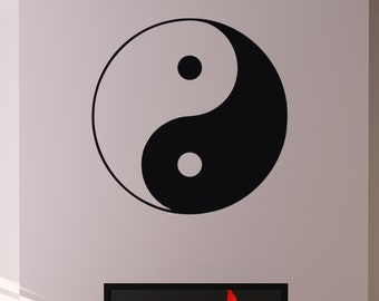 g3151 Details about  /Vinyl Wall Decal Circle Yin Yang Symbol Eastern Philosophy Zen Stickers