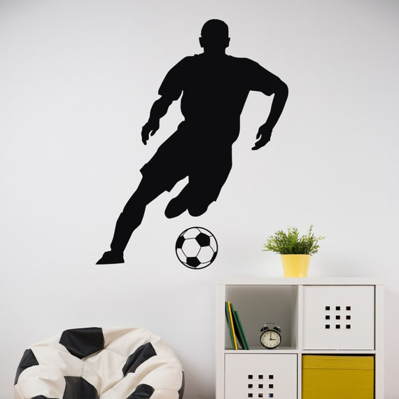 Soccer Player Dude Vinyl Wall Decal Etsy