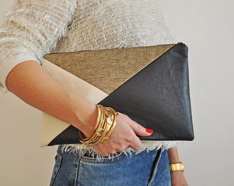 Leather Clutch, Leather Handbag, Evening Clutch