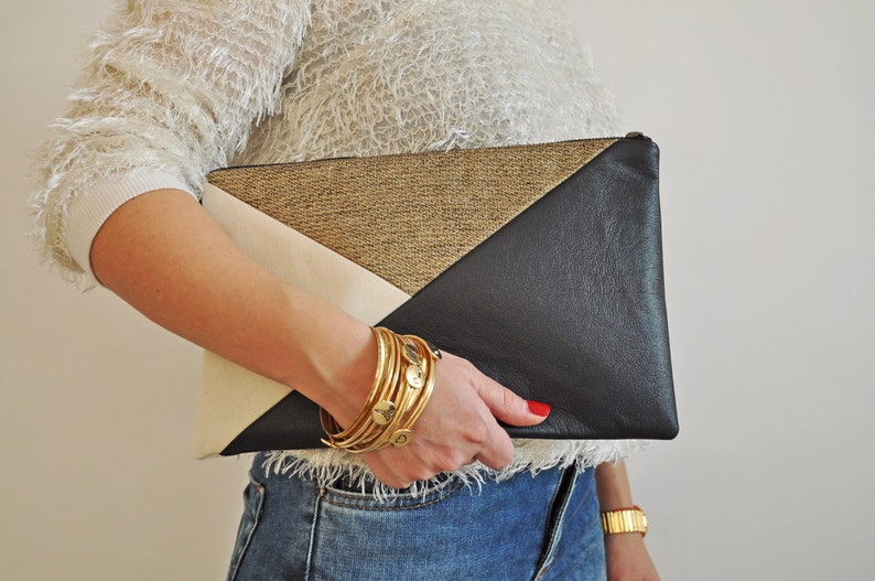 Leather Clutch Leather Handbag Evening Clutch image 0