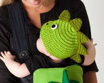 Knit baby and toddler hats - Dragon