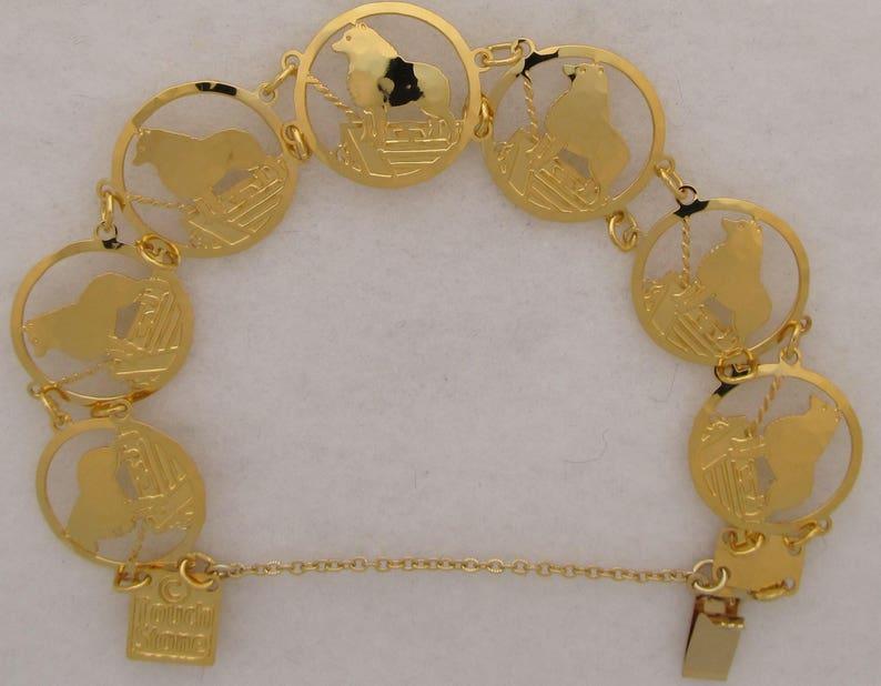 Saluki Jewelry Gold Bracelet  by Touchstone