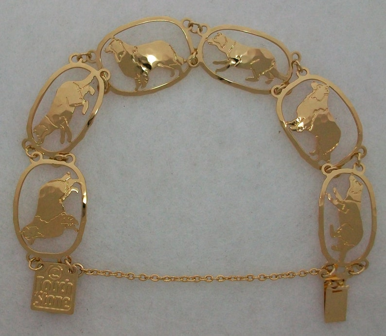 Border Collie Gold Bracelet by Touchstone Dog Designs