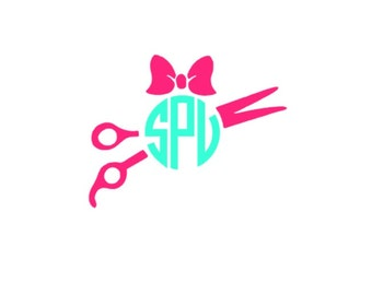 Scissors Monogram Etsy