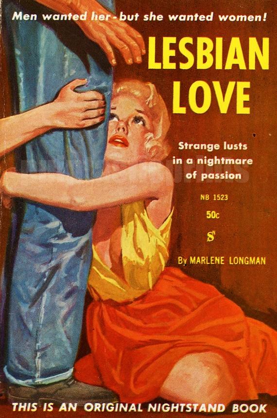 A BIT OF FLUFF 1950/'s LESBIAN PULP PAPERBACK COVER ART  A3 POSTER REPRINT