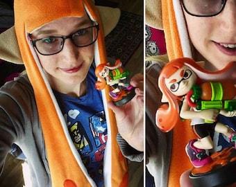 Orange Splatoon Hat - Inkling Girl