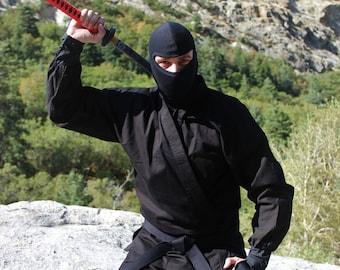 Authentic Black Ninja Uniform Costume