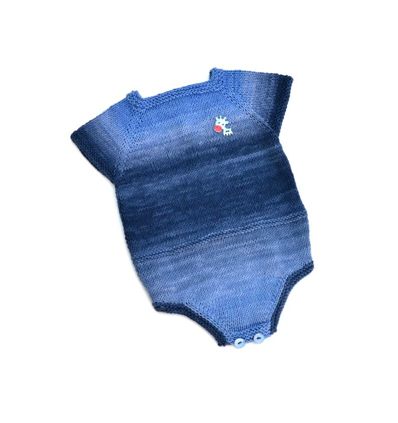 bfc7465ed Pelele para bebé hecho a mano con hilo de algodón, regalo para recién  nacido, ropa de bebé única para primavera y verano.