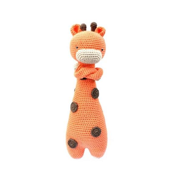Amigurumi jirafa naranja. Jirafa muñeco para bebés. Jirafa   Etsy