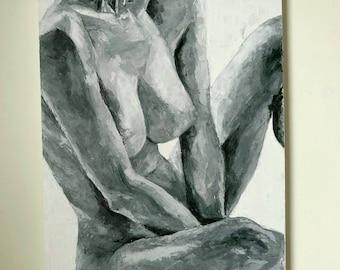 Erotic nude acrylic