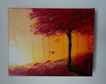 MADE-TO-ORDER ( Similar But Not Identical Painting Can Be Created ) Modern Art Tree Landscape Painting Original Surreal