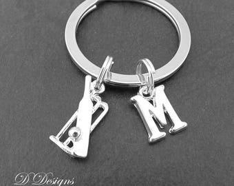 Cricket Keyring, Cricket  KeyChain, Sporty Key Chain, Sporty Keyring, Personalised Keychain, Cricket Gifts, Cricket Jewellery
