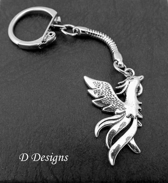 Keyring Charm Inspiring Phoenix Fire Bird Charm Keyring Arise From The Flames