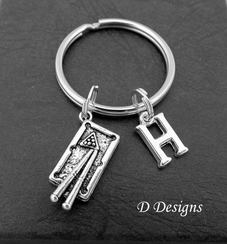 Snooker KeyChain, Pool KeyRing, Pool Key Chain, Snooker key ring,  Personalised Snooker Key chain, Pool Gifts, Snooker Gifts