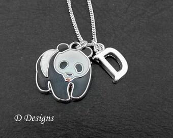 Panda Necklace, Panda Necklace, Panda Jewellery, Personalised Panda, Panda Gifts, Necklace, Sterling Silver Necklace