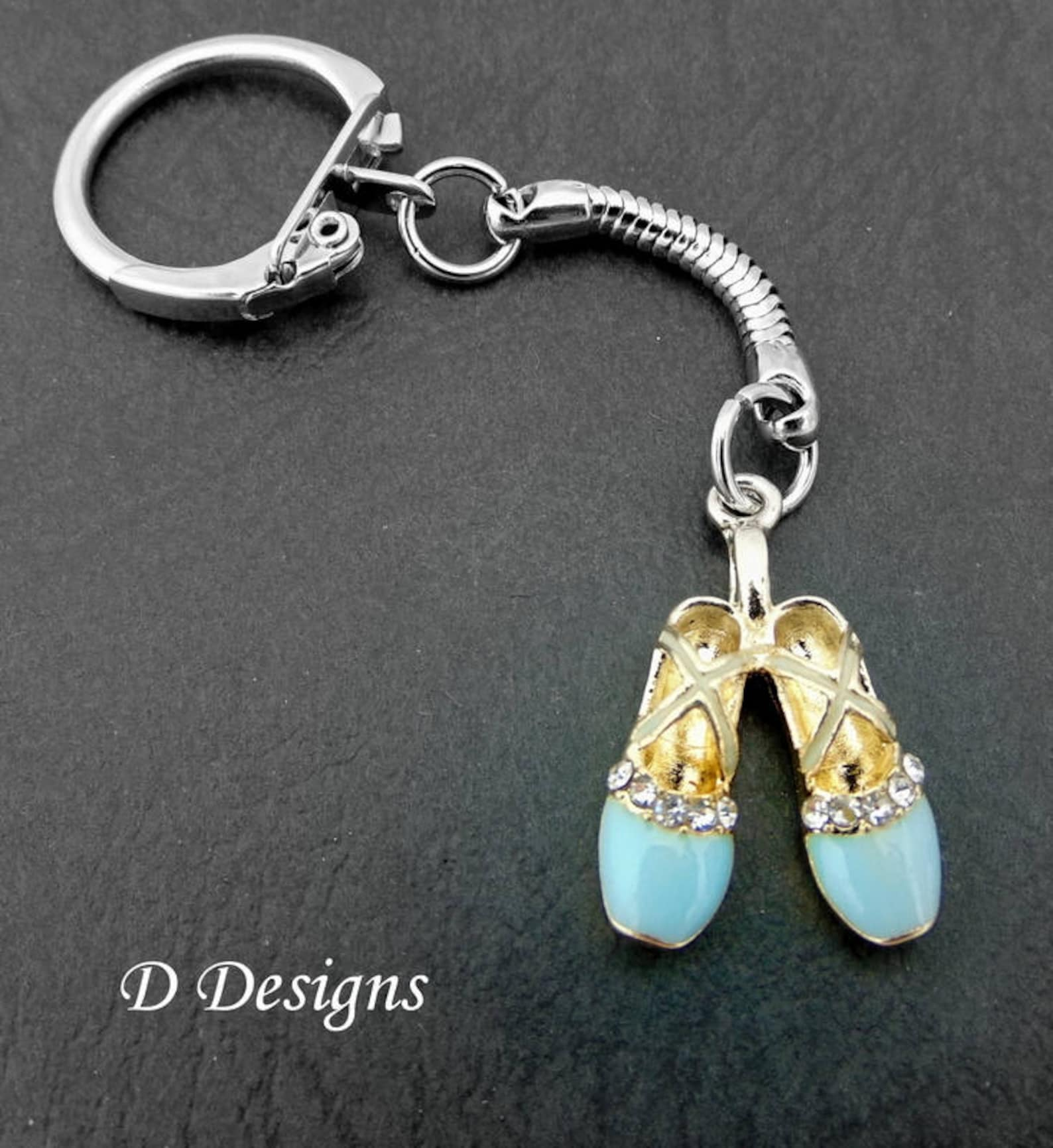 ballet shoes keyring, ballet shoes keychain, dancer key chain, dancer keychain, personalised ballet key chain, ballet gifts
