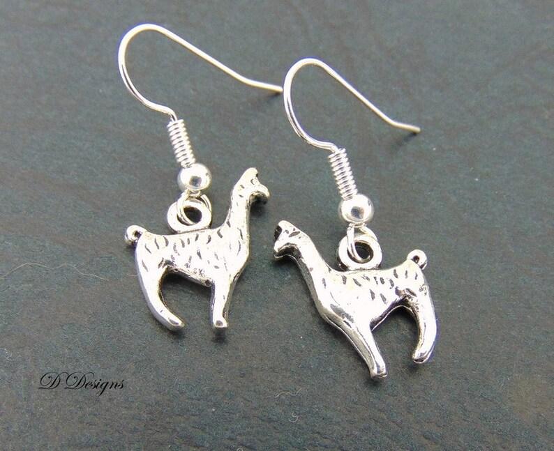 efd101696 Llama Earrings Sterling Silver | Etsy