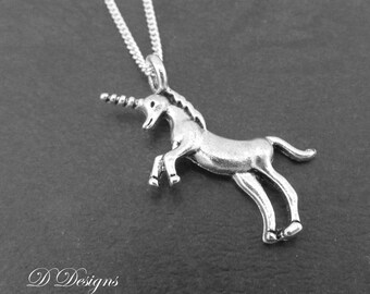 Silver Unicorn Necklace, Silver charm Necklace, Unicorn Charm Necklace, Unicorn Pendant, Silver Necklace, Gifts for her, Christmas Gift