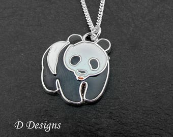 Panda Necklace, Panda Necklace, Panda Jewellery, Panda Gifts, Necklace, Sterling Silver Necklace