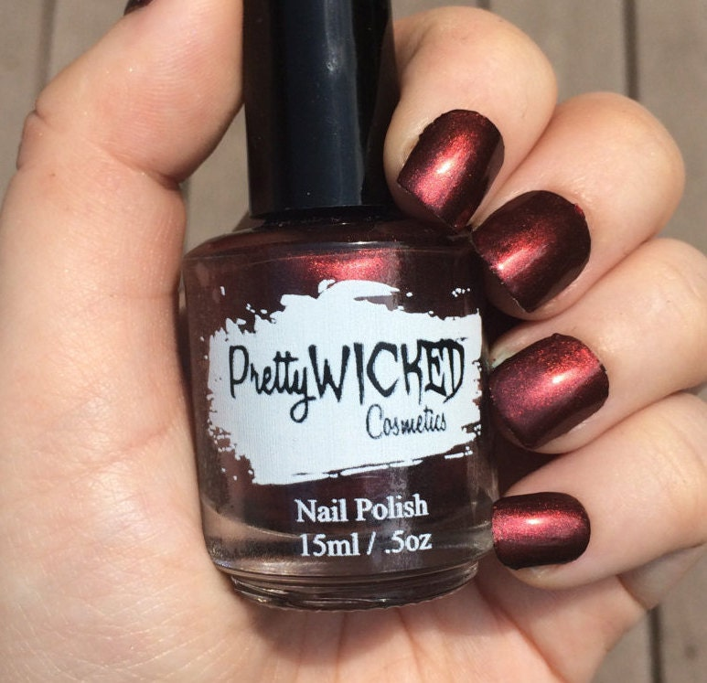 Dark Reddish Black Nail Polish, Carrie Polish, Dark Nail Polish, Red ...