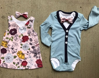 87a5e45271198 Baby Boy and Girl Twin Outfits