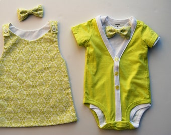 SALE - Boy and Girl Twin Outfits