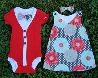 SALE!!!  Boy and Girl Twin Outfits