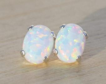 4c964e08212be Silver opal earrings   Etsy