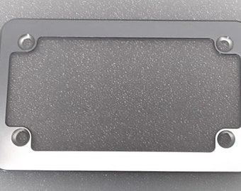 Anodized Black Single HMC Billet Aluminum License Plate Frame No Pocket
