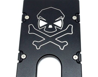 Personalized Aluminum RFID protection Fireman Badge BilletVault Wallet