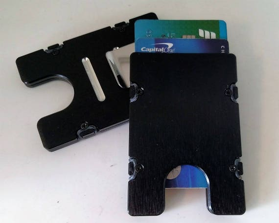 anodized clear front pocket U.S.A. Aluminum RFID protection BilletVault Wallet