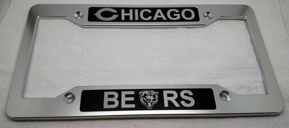 Chicago Bears Billet Aluminum License Plate Frame Clear | Etsy