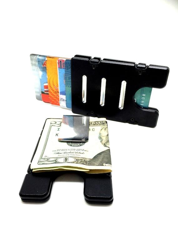 BilletVault Wallet//Credit Card Holder black front pocket RFID protection Alum