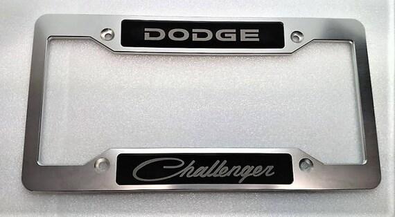 Dodge Challenger Billet Aluminum License Plate Frame Clear   Etsy