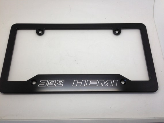 Nice 392 HEMI Billet Aluminum License Plate Frame Black Anodized | Etsy